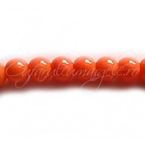 Margele sticla sirag portocaliu 8 mm