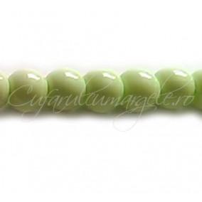 Margele sticla sirag verde crud 10 mm