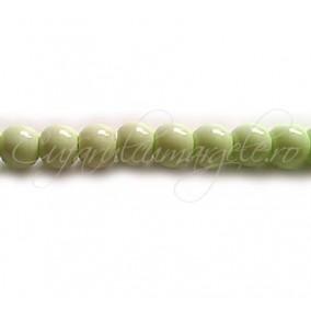 Margele sticla sirag verde crud 6 mm