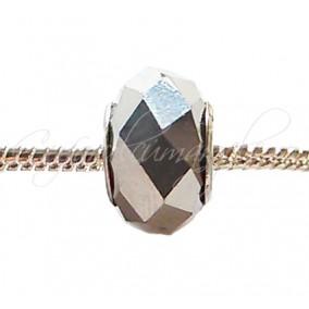 Margele tip Pandora cristal argintiu metalizat 14 mm