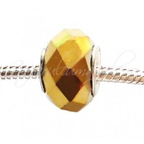 Margele tip Pandora cristal auriu metalizat 14 mm