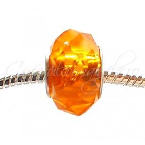 Margele tip Pandora cristal oranj 14 mm