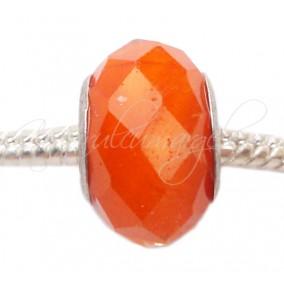 Margele tip Pandora cristal portocaliu opac 14mm