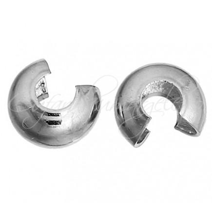 Masca crimp gri argintiu 4 mm