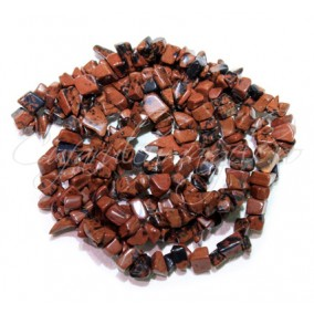 Obsidian mahon chips 5-8mm sirag 90cm