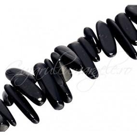 Obsidian negru chips 8-25mm sirag 40cm
