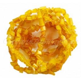 Ochi pisica galben chips 4-6mm sirag 90cm