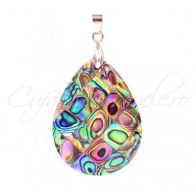 Pandantiv abalone picatura 30x20mm