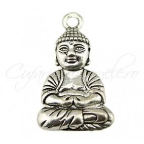 Pandantiv argint tibetan Buddha 40x24mm