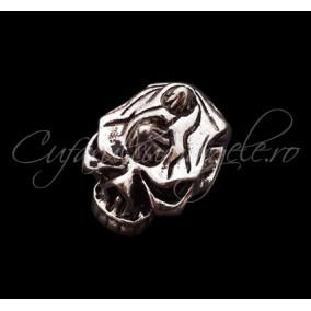 Pandantiv argint tibetan craniu 15x20x15mm