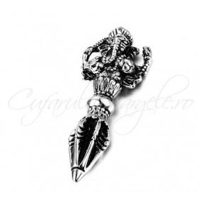 Pandantiv argint tibetan elefant scorpion 53x20mm