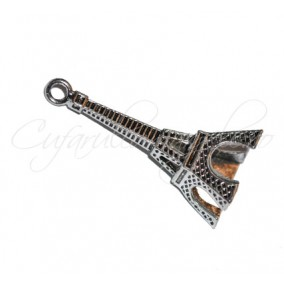 Charm argintiu turn Eiffel 40x16 mm