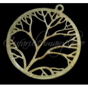 Charm auriu cerc copacul vietii 22mm