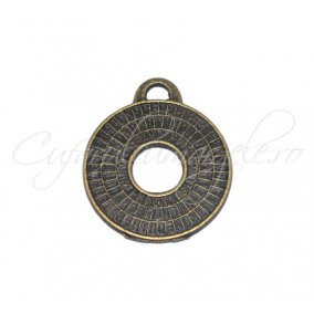 Pandantiv bronz cerc 28x24 mm