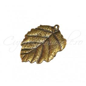 Pandantiv bronz frunza 38x35 mm