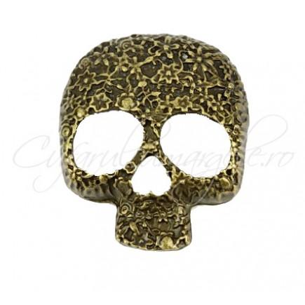 Pandantiv bronz masca craniu 40x34mm