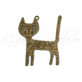 Pandantiv bronz pisica 44x36 mm