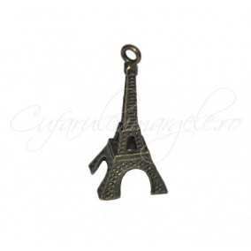 Pandantiv bronz turn Eiffel 28x9 mm