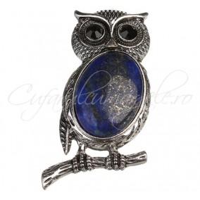 Pandantiv bufnita cabochon lapis lazuli 27x53mm