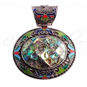 Pandantiv cabochon oval 50X60mm abalone