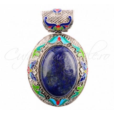 Pandantiv cabochon oval 60x50mm lapis lazuli