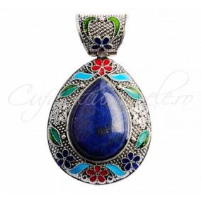 Pandantiv cabochon picatura 55x46mm lapis lazuli