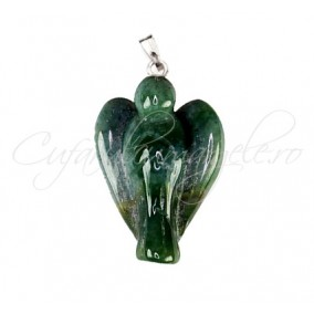 Pandantiv inger agata verde 30x15x7mm