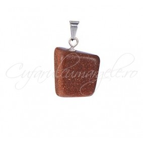 Pandantiv neregulat brown goldstone 20mm