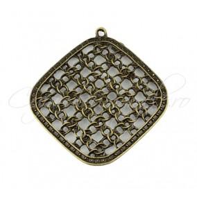 Pandantiv romb bronz 50x47mm