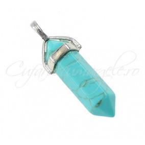 Pendul cadru metal turcoaz bleu 42mm