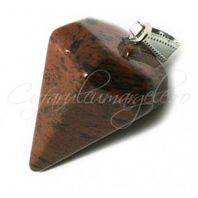 Pendul piramida fatetata obsidian mahon 30x15mm