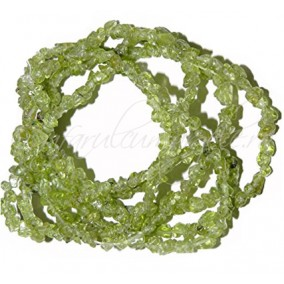 Peridot chips 5-8mm sirag 90cm