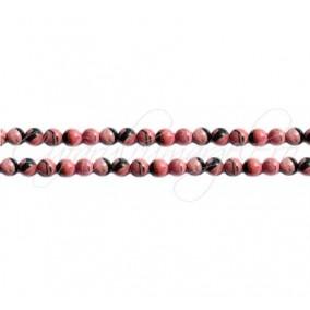 Rodonit negru sferic nefatetat 4 mm