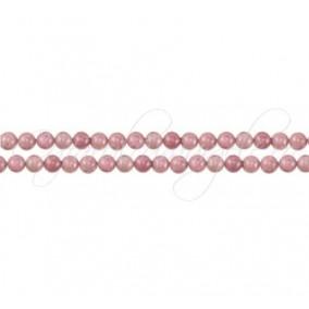 Rodonit roz sferic nefatetat 4 mm