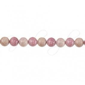 Rodonit roz sferic nefatetat 8 mm