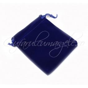Saculet catifea albastru 10x12cm