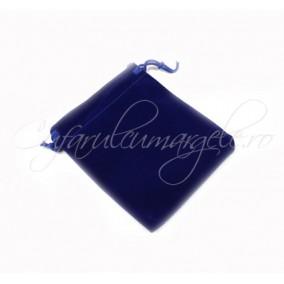 Saculet catifea albastru 9x7cm