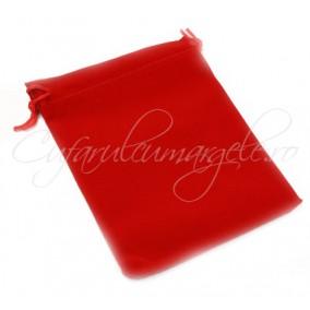 Saculet catifea rosu 15x11cm