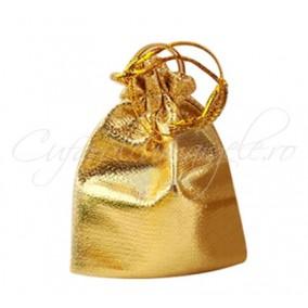 Saculeti metalici aurii 110x95mm