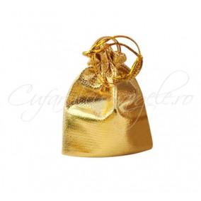 Saculeti metalici aurii 85x70mm
