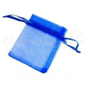 Saculeti organza albastru regal 12x9cm