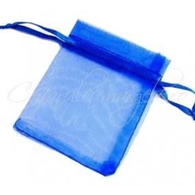 Saculeti organza albastru regal 16x11cm