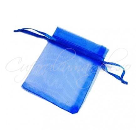 Saculeti organza albastru regal 9x7cm