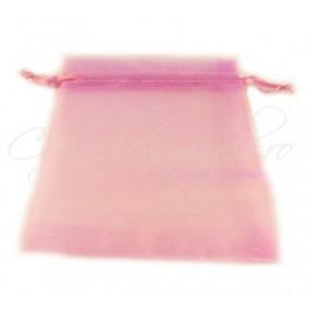 Saculeti organza roz lila 12x9cm