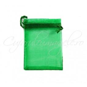 Saculeti organza verde iarba 9x7cm
