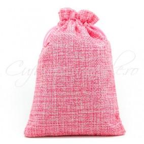 Saculeti panza in roz 18x12cm