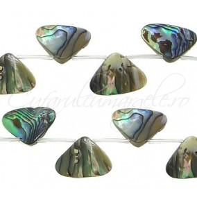 Scoica abalone triunghi 20x20mm