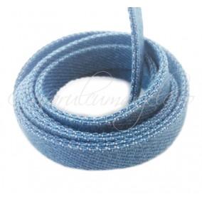 Snur denim lat 10mm albastru 1m
