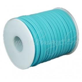 Snur elastic textil 5mm bleu 1m