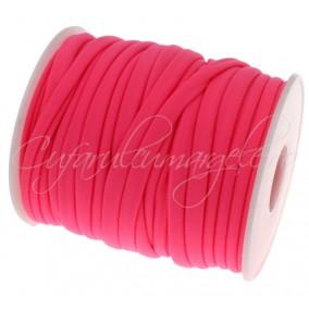Snur elastic textil 5mm fucsia 1m